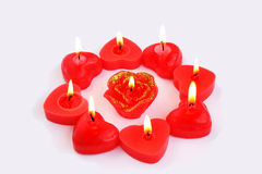 Red candles Royalty Free Stock Images