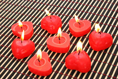 Red candles Royalty Free Stock Photography