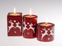 Red candles Stock Photography