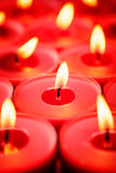 Red candles background Royalty Free Stock Image