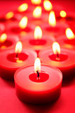 Red candles background Stock Photos