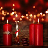 Red candles for Christmas Royalty Free Stock Photos