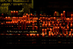 Red Candles church Royalty Free Stock Image