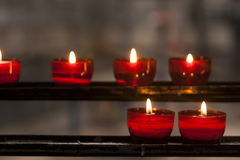 Red candles Royalty Free Stock Photos