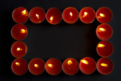 Red candles frame Royalty Free Stock Photography