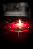 Red candles Stock Images