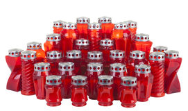 Red candles Royalty Free Stock Photo