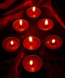 Red candles. Shaped like tree royalty free stock photo