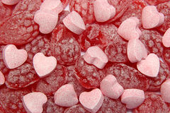 Red candy background Royalty Free Stock Photos