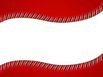Red Candy Cane Swoosh Border Royalty Free Stock Photo