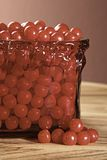 Red Candy Dish Royalty Free Stock Photos