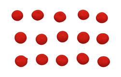 Red Candy Dots Stock Photography