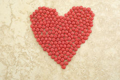 Red Candy Heart Background Stock Photography
