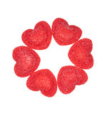 Red candy in heart shape Stock Image