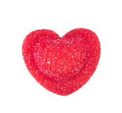 Red candy in heart shape Royalty Free Stock Photo