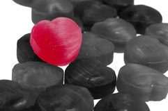 Red candy heart shape Royalty Free Stock Photography
