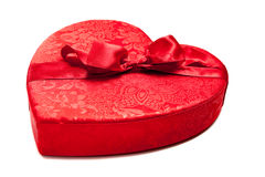 Red candy heart on white Royalty Free Stock Photos