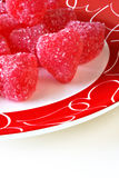 Red Candy Hearts Royalty Free Stock Photos