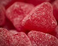 Red candy hearts Royalty Free Stock Photography