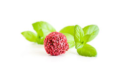 Red candy with mint Royalty Free Stock Photo