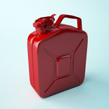 Red canister. Red canister isolated on white background Royalty Free Stock Photo