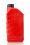 Red canister with machine oil Royalty Free Stock Photo