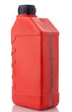 Red canister with machine oil Stock Photography