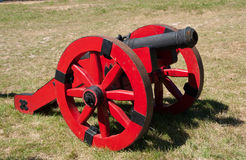 Red cannon Stock Image