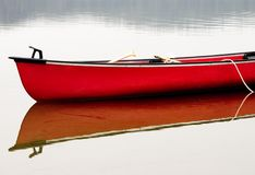 Red Canoe Stock Photography