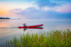 Red canoe Stock Photography