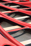 Red canoes Stock Photos