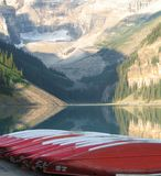 Red Canoes Royalty Free Stock Images