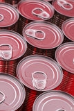 Red Cans Royalty Free Stock Photos