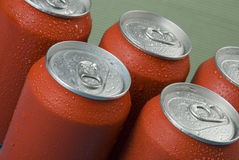 Red cans Stock Photography