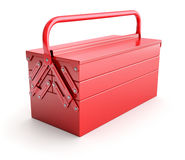 Red cantilever tool box Royalty Free Stock Photography