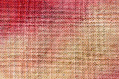 Red canvas background Royalty Free Stock Photo