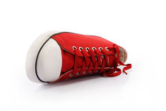 Red Canvas Shoes Stock Image