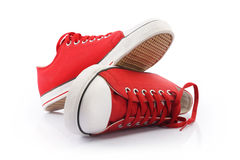 Red Canvas Shoes Royalty Free Stock Photography