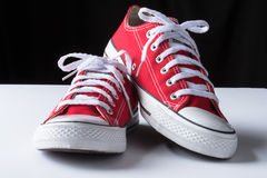 Red Canvas Shoes Stock Photos