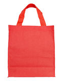Red canvas shopping bag Royalty Free Stock Image