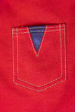Red canvas textile pocket Stock Images