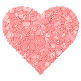 Red canvas texture heart shape. The red canvas texture heart shape stock illustration