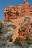 Red Canyon. Sandstone formations in Red Canyon on Highway 12 near Bryce Canyon Stock Photo
