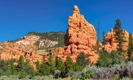 Red Canyon cliffs at Bryce Canyon national park, Utah stock images