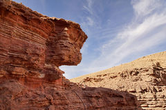Red canyon Eilat Israel Stock Photography