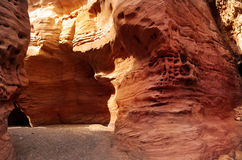 Red canyon in Eilat mountains, Israel. Stock Photos