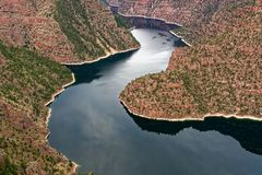 Vista of Red Canyon in Flaming Gorge, Utah Stock Images