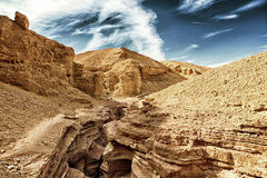 The Red Canyon geological attraction in the Eilat Mountains, Isr Stock Photo