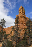 Red Canyon Hoodoo Tower royalty free stock images