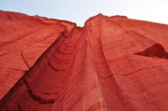 Red canyon low view take Stock Images